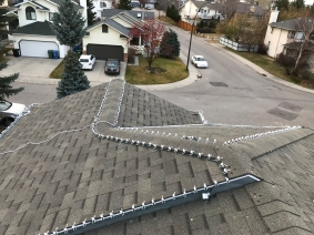 white LED's across roof upper pitch